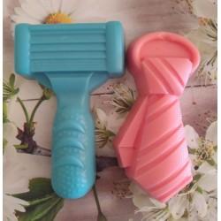 Pack jabón cuchilla afeitar + corbata
