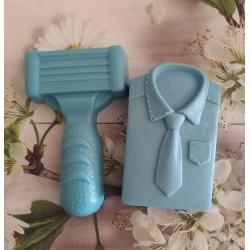 Pack cuchilla afeitar + corbata