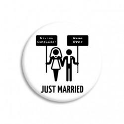 Chapa o Imán Recién Casados