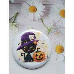 Chapa o Imán gato Halloween