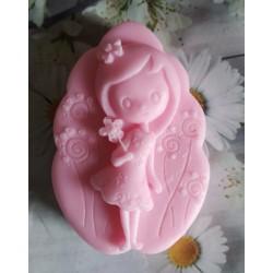Jabón niña con flor