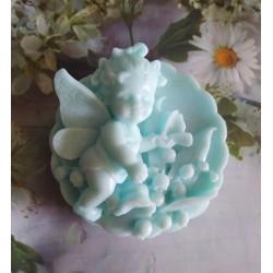 Jabón angelita y flores