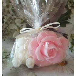 Jabón osito + rosa