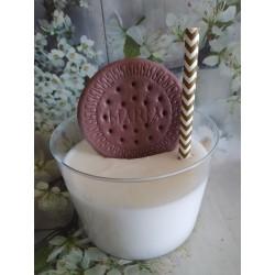 Jabón vaso leche con galleta