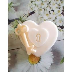 Jabón corazón llave